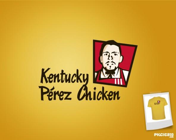Trasera de Camiseta: Kentucky Pérez Chiken