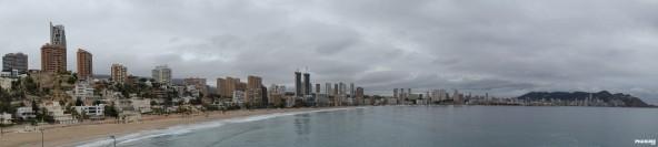 Panorámica de la playa de levante (Benidorm)