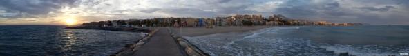 Panorámica - Puesta de sol en Villajoyosa